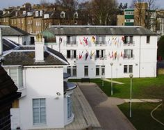 Pax Lodge.  World Center for Girl Guides and Girl Scouts located in London, England.
