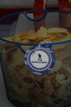 Hostess with the Mostess® - Davis' Military Party; battle chips...cute