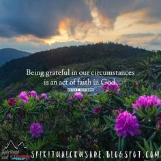 Being grateful in our circumstances is an act of faith in God. Dieter F. Uchtdorf Background image by: Jason Frye https://flic.kr/p/W9vL8s