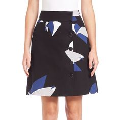 Tibi Floral Particle Cotton Wrap Skirt ($410) ❤ liked on Polyvore featuring skirts, apparel & accessories, black multi, floral a line skirt, a-line skirt, long cotton skirts, cotton wrap skirt and long skirts