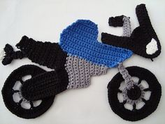 Ravelry: Motorcycle Patch pattern by Clouds Crochet     (filedto: C:\DOCS\Crochet\Applique - Motorcycle Patch)