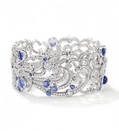 #HappyBirthdayBrastopPlatinum, tanzanite and diamond 'Ocean' bracelet by Boodles