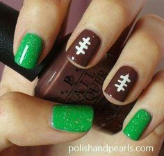 Football nails - will do in blue though...