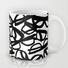 Black Eyeglasses Mug by uramarinka - $15.00