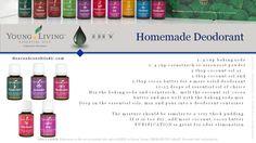 Young Living Essential Oils:  Deodorant
