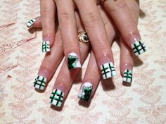 St. Patrick's Day Nail Art - www.nailsmag.com #nailart
