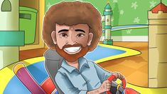 Bob Ross - Mario Kart Bob Ross, Mario Kart, Pop Rocks, Painted Rocks, Scooby Doo, Public, Celebrities, Painting, Fictional Characters