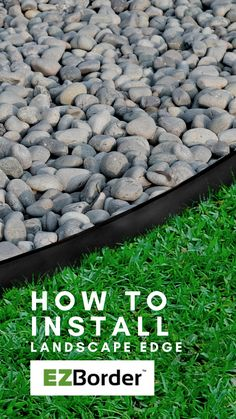 EZBorder™ garden edges are ecofriendly and made from a sustainable source of recycled rubber. When treads on car tires become too low for safe driving, the rubber tire is crumbed into tiny pieces. This crumb rubber can be used to make new products for the home and garden such as the Landscape Edge shown here, and other garden beautification edging! Learn how to install EZBorder™ garden edges! Our website has project ideas, installation videos and more! Landscape Edging, Garden Edging, Garden Borders, Recycled Rubber, Project Ideas, Eco Friendly, Home And Garden, Website, Videos