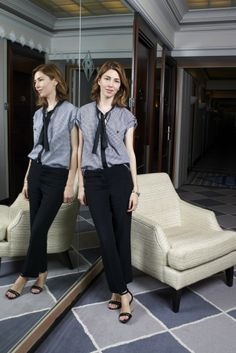 Sofia Coppola in Louis Vuitton. [Photo by Stephane Feugere]