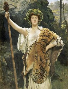 The Priestess of Bacchus - Collier John Date: 1889 Style: Romanticism Genre: mythological painting