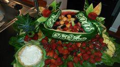 Prom fruit arrangement
