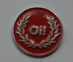 RED OI Skinhead Skins Quality Enamel PIN Badge | eBay