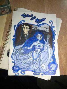 el cadáver  de la novia_dibujo_emili and victor
