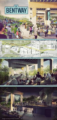 """Toronto's newest development features plenty of green, multi-use space. The new park, walkway and shops will be named """"The Bentway"""" and occupy the unused space under the #GardinerExpressway.   #Toronto #Development #Greenspace #TorontoParks (scheduled via http://www.tailwindapp.com?utm_source=pinterest&utm_medium=twpin)"""