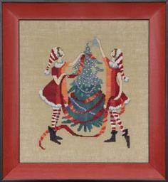 Red Tree by Nora Corbett - Cross Stitch Kits & Patterns Cross Stitch Fairy, Cross Stitch Kits, Cross Stitch Designs, Cross Stitch Charts, Cross Stitch Patterns, Mill Hill Beads, Linen Stitch, Halloween Embroidery, Cross Stitch Supplies