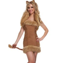 adult lion costume | Adult Animal Costumes cute az  sc 1 st  Pinterest & Lion Costume women | Queen of the Jungle Womenu0027s Lion Costume by ...
