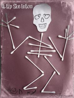 Q-Tip Skeletons from 365ishpins.com