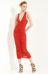 Donna Karan Collection V-Neck Crepe Jersey Dress