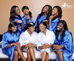 Twin brides and their bridesmaids Nigerian Bride, Nigerian Weddings, Brides And Bridesmaids, Bridesmaid Dresses, Wedding Dresses, Bride Pictures, Wedding Pics, Wedding Ideas, Bridesmaid Inspiration