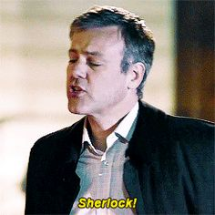 the Daddy to Sherlock and John ; Plus, I absolutely adore Greg Lestrade/Rupert Graves. Sherlock Doctor Who, Sherlock Fandom, Sherlock Holmes Bbc, Rupert Graves, Mrs Hudson, Sherlolly, 221b Baker Street, John Watson, To Infinity And Beyond