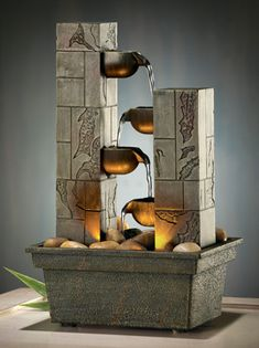 Cascading LED Tabletop Fountain