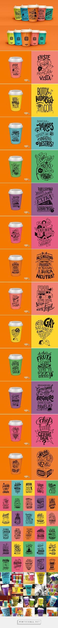 Illustration, typography and packaging for Leão Fuze Letterings on Behance curated by Packaging Diva PD.