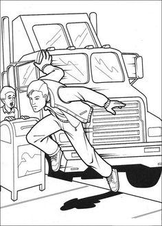 Spiderman Målarbilder för barn. Teckningar online till skriv ut. Nº 30