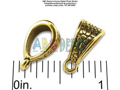 #Bail en #Metal color #Oro antiguo de 14.5x7.5mm. Bolsita con 5, Código: BAG1575