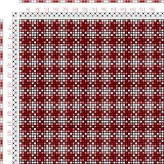 draft image: Figurierte Muster Pl. XVII Nr. 18, Die färbige Gewebemusterung, Franz Donat, 2S, 2T