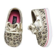 Sperry Top-Sider Girls Crib/1st Walker Bahama Boat Shoe #VonMaur #Sperry #Leopard #AnimalPrint