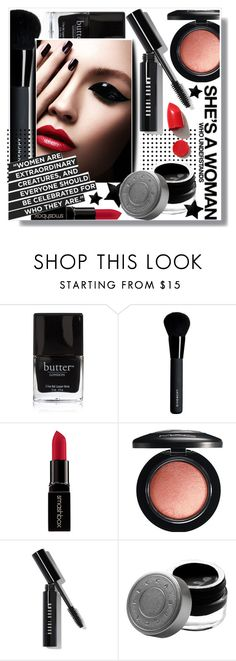 """""""Untitled #908"""" by intellectual-blackness ❤ liked on Polyvore featuring beauty, Butter London, Givenchy, Smashbox, MAC Cosmetics, Bobbi Brown Cosmetics, Becca, NARS Cosmetics and Beauty"""