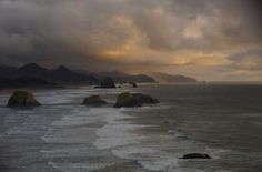 Ominous Clouds at Cannon Beach, OR