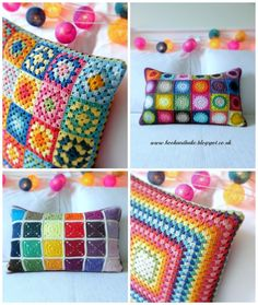 Annie's Place: Crochet Cushion Collection : Brights