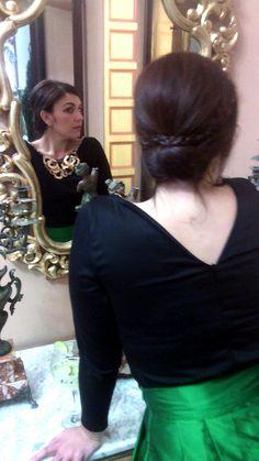 Falda Midi Verde. Silvia Belda Atelier