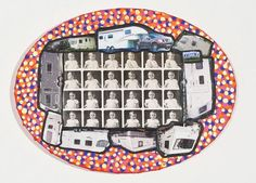 Damian Le Bas, Oval Traveller Baby II, 2010 Collages, It Works, Paintings, Artist, Travel, Stockings, Viajes, Paint, Painting Art