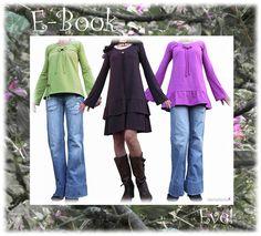 Nähanleitungen Mode - Ebook,Schnittmuster Eve!,Tunika,Shirt oder Kleid! - ein Designerstück von allerlieblichst bei DaWanda