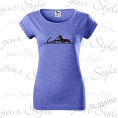 dámské trendy melírované tričko s Jezevčíkem Trendy, V Neck, Tops, Women, Fashion, Moda, Fashion Styles, Fashion Illustrations, Woman