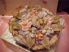Antique VINTAGE1920S French Silk Ribbon Flower Powder Puff Original Box Perfumed | eBay