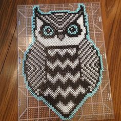 Tribal owl perler beads by _theperlerbeadmakers_
