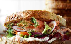 Gravad lax-smörgås