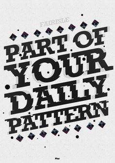 Fairisle Typography Illustration
