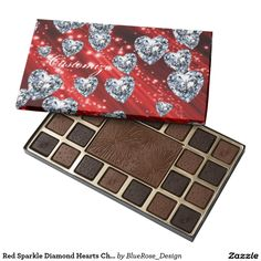 Red Sparkle Diamond Hearts Chocolate Box 45 Piece Box Of Chocolates Chocolate Gifts, Chocolate Box, Chocolate Brownies, Diamond Heart, Chocolates, Valentine Day Gifts, Special Gifts, Colorful Backgrounds, Online Shopping