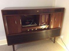 His Master s Voice, Vintage Radiogram - Retro LP Turntable Deck Valve Amp Radio