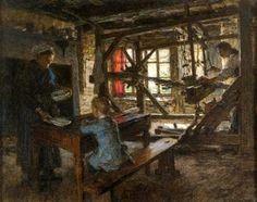 Figures in a Cottage Interior, Leon-Augustin L'hermitte