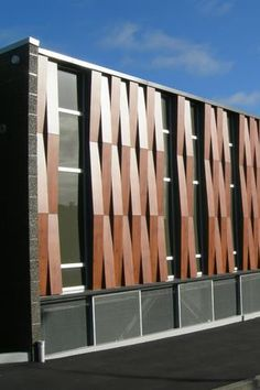 Awesome Metal Facades You Need to See Building Exterior, Building Facade, Building Design, Facade Architecture, School Architecture, Contemporary Architecture, Wooden Facade, Metal Facade, Renovation Facade