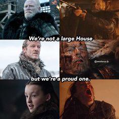 Jeor, jorah and lyanna mormont. Game Of Thrones Meme, Game Of Thrones Series, Mormont Game Of Thrones, Valar Dohaeris, Valar Morghulis, House Mormont, Lyanna Mormont, Game Of Thones, Got Memes