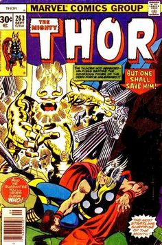 Thor Series Journey Into Mystery) September 1977 Marvel Comics Grade VF Thor Comic Book, Comic Book Covers, Comic Book Heroes, Comic Books Art, Comic Art, Book Art, Mystery, The Mighty Thor, Silver Age Comics