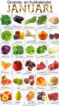 Natuurlijk Gezond en Mooi: Groente- en fruitkalender januari