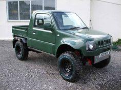 Custom Truck Beds, Custom Jeep, Custom Trucks, Custom Cars, Suzuki Jimny Off Road, Jimny Suzuki, 504 Pick Up, Pick Up 4x4, Small Trucks