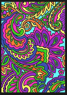 Lisa Center division) from Paisley Designs Stained Glass Coloring Book… Paisley Coloring Pages, Abstract Coloring Pages, Flower Coloring Pages, Mandala Coloring Pages, Coloring Book Pages, Colouring, Coloring Sheets, Art Nouveau, Psychedelic Drawings